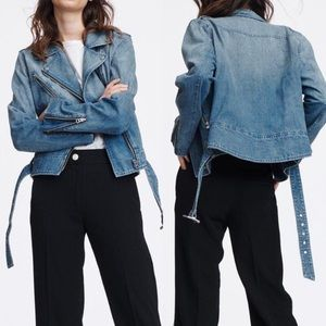 NWT | Rag & Bone | Abbey Denim Moto Jacket